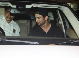 Bollywood actor Sushant Singh Rajput spotted at olive restaurant in Bandra.