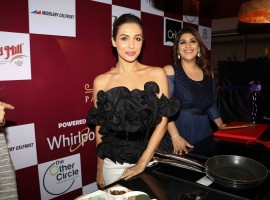Bollywood actress Malaika Arora and Chef Rakhee Vaswani spotted during the launch of Palate Culinary Academy in Mumbai on January 20, 2017.