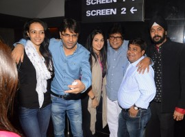 The much awaited Coffee with D had a special screening held at Cinepolis Cinema where actresses Anjana Sukhani & Dipannita Sharma were present. Director Vishal Mishra & producer Vinod Ramani lyricist Sameer along with  Kunal Roy Kapoor also attended the special screening.