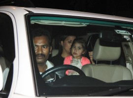 Bollywood actress Lara Dutta spotted with family at Bandra.