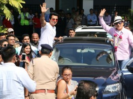 Action superstar Jackie Chan arrived in Mumbai today to promote his upcoming film