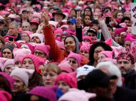 People gather for the Women's March in Washington.