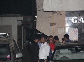 Lulia Vantur snapped at Salman Khan's house.