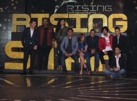 Celebs like Diljit Dosanjh, singer Shankar Mahadevan, Monali Thakur, Meiyang Chang and others graced during the launch of Colors TV singing reality show, Rising Star in Mumbai on January 24, 2017.