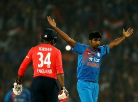 India produced an inspired bowling display to deny England their first limited-overs series in the country since 1984, winning the second Twenty-20 International (T20I) here on Sunday by five runs. India posted 144/8 after being sent into bat in the Vidarbha Cricket Association Stadium. England, seemingly in control, faltered at the end to be restricted to 139/6. Young pacer Jasprit Bumrah bowled an inspired last over, conceding only two runs, to deny England a victory. He finished the match with figures of 20/2 in his four overs, giving away only three runs in the 18th over.