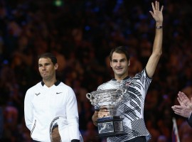 Roger Federer has won his fifth Australian Open title and 18th overall major crown, defeating Rafael Nadal 6-4, 3-6, 6-1, 3-6, 6-3 at the Rod Laver Arena here on Sunday. Federer extended his lead over Nadal in the all-time major wins list to four with his first Melbourne Park crown since 2010, and his first major singles title win since Wimbledon 2012, reports ausopen.com.