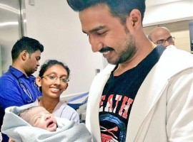 South Indian actor Vishnu Vishaal blessed with a boy baby. On his Twitter handle, Vishnu Vishaal tweeted,