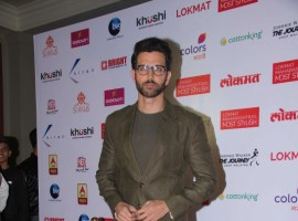 Bollywood actor Hrithik Roshan spotted during the Lokmat Maharashtra Most Stylish Awards in Mumbai on January 31, 2017.