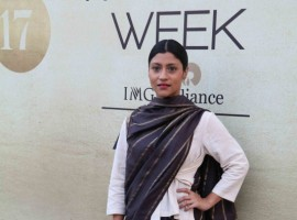Bollywood actress Konkana Sen Sharma at Lakme Fashion Week 2017.