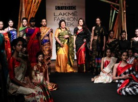 Bollywood actress Preity Zinta walks the ramp for designer Sanjukta Dutta.