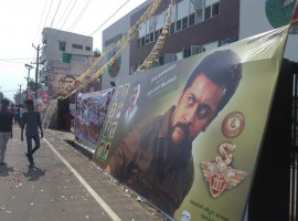 Suriya fans celebrate Singam 3 aka Si3 movie release.