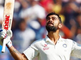 An imposing Virat Kohli continued to plunder runs, helping India reach 477/4 at lunch on the second day of the one-off Test against Bangladesh here on Friday. Skipper Kohli (191) and wicketkeeper Wriddhiman Saha (4) were at the crease at lunch.
