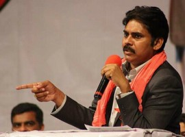 Tollywood actor Pawan Kalyan at Nashua Public Meet.