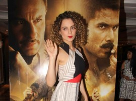 Bollywood actress Kangna Ranaut promotes Rangoon at Taj Land ends.