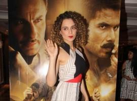 Bollywood actress Kangna Ranaut promotes Rangoon at Taj Land ends.
