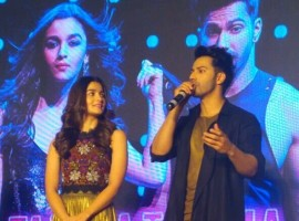 Bollywood actor Alia Bhatt and Varun Dhawan launch Tamma Tamma Again song from Badrinath Ki Dulhania.