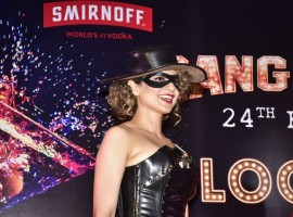 Bollywood actress Kangana Ranaut swayed in her Jaanbaaz Julia avatar while promoting Rangoon in the city. Kangana launched a special vodka based cocktail named after the title of her popular track, 'Bloody Hell' lastnight.