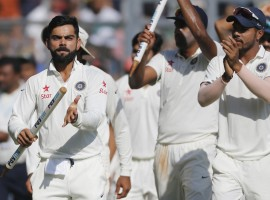 India bowled Bangladesh out for 250 in their second innings to clinch the one-off cricket Test by 208 runs here on Monday.