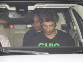 Bollywood actor Sushant Singh Rajput spotted at Karan Johar's house.