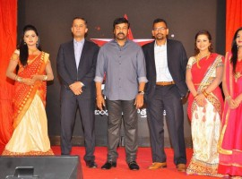 Maa TV Launches 'Refreshed' Channel Look, Logo and Positioning as 'Star Maa'. Celebs like Megastar Chiranjeevi, Kevin Vaz ( CEO of South Region, Star India), Alok Jain (Business Head of Maa) and others graced the event.