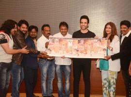 Bollywood actor Tusshar Kapoor launched the music of Marathi film 'Waakya'. The star cast of the film Abhijeet Kulkarni, Priyanka Dynanlaxmi, Ganesh Yadav Prema Kiran, Kishori Sahane, Subhash Bhalsingh, Panshul Kamod and Music director Dev - Ashish was present at the event.