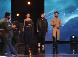 Celebs like Saif Ali Khan, Shahid Kapoor, Kangana Ranaut promote Rangoon on Indian Idol.
