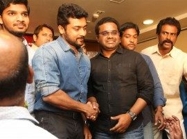 Telugu movie S3 (Yamudu 3) success meet held at Hyderabad. Celebs like Suriya, director Hari, producer Malkapuram Shivakumar and others graced the event.