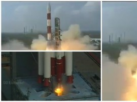 Indian rocket Polar Satellite Launch Vehicle (PSLV) on Wednesday morning lifted off successfully with a record 104 satellites, including the country's earth observation satellite Cartosat-2 series. The PSLV-XL variant rocket standing 44.4 metre tall and weighing 320 ton tore into the morning skies at 9.28 a.m. with a deep throated growl breaking free of the earth's gravitational pull.