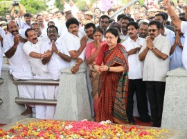 AIADMK General Secretary V.K. Sasikala on Wednesday headed for Bengaluru as the Supreme Court rejected her plea seeking more time to surrender after it upheld her conviction in a disproportionate assets case. Sasikala left Chennai for Bengaluru by road following the Supreme Court decision.