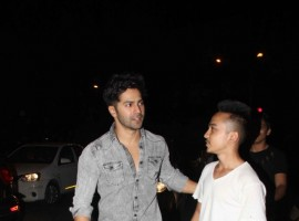 Bollywood actor Varun Dhawan spotted at Bandra.