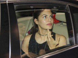 Bollywood actress Jacqueline Fernandez spotted at Hakkasan in Bandra.