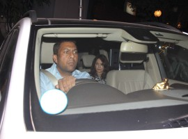 Bollywood actress Madhuri Dixit with husband spotted at Bandra outside of doctor clinic.