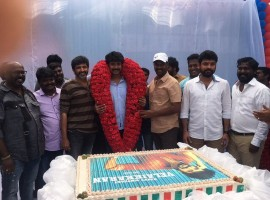 South Indian actor Sivakarthikeyan celebrates his birthday with Velaikkaran movie team.