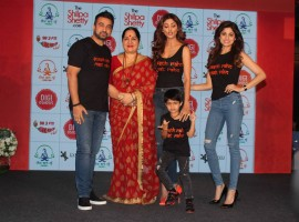 Bollywood actors Tiger Shroff, Shilpa Shetty along with her son Viaan spotted during the launch of Shilpa Shetty Wellness Series on the digital platform in Mumbai, India on February 16, 2017. Tiger Shroff launches Shilpa Shetty Wellness Series.