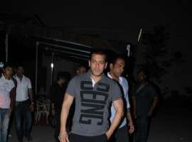 Bollywood actor Salman Khan spotted at Mehboob for doing photoshoot for being human campaign.