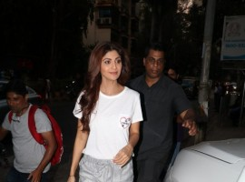 Bollywood actress Shilpa Shetty spotted at Bandra.