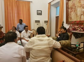 DMK Working President M.K. Stalin on Saturday met Tamil Nadu Governor C. Vidyasagar Rao and complain about the happenings in the state assembly. The DMK leader said he sat in protest inside the assembly to press his demand. Stalin alleged he was forcibly evicted by the marshals and his shirt was damaged.