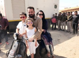 Bollywood actor Sanjay Dutt is not just enjoying the shooting of his comeback film