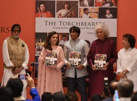 Bollywood actor Amitabh Bachchan and Nita Ambani spotted at the launch of book The Torchbearers by author Harsh Meswani in Mumbai.