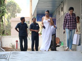 Bollywood actress Malaika Arora Khan spotted at Bandra in Mumabi.