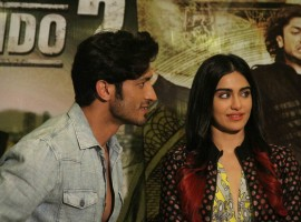 Bollywood actors Vidyut Jamwal and Adah Sharma during a media interaction of film Commando 2: The Black Money Trail, in Mumbai on February 20, 2017.