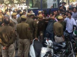 Clashes erupted between two student groups outside Ramjas College here on Wednesday, a day after the ABVP forced the suspension of an event to be addressed by JNU student Umar Khalid, jailed last year for allegedly shouting anti-national slogans. Ramjas students had planned a march to the nearby Maurice Nagar Police Station demanding action against the activists of the RSS-affiliated ABVP but were stopped by ABVP activists who surrounded the college.