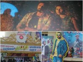 Kiccha Sudeep fans celebrate Hebbuli movie release. Hebbuli is a action film directed by S. Krishna and produced by Raghunath, Umapathy Srinivas. Starring Sudeep and Amala Paul in the lead role.