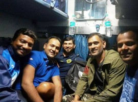 A couple of days after the cricketing world was abuzz with the news of Mahendra Singh Dhoni's removal as the skipper of IPL franchise Rising Pune Supergiants, the just-appointed Jharkhand skipper, in his typical unfazed avatar, regaled his teammates with stories from the past in a rare train journey from Ranchi to Howrah station to take part in the Vijay Hazare Trophy.