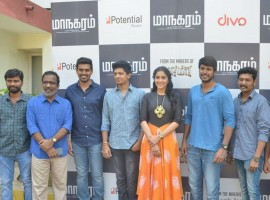 Tamil movie Maanagaram press meet event held at Chennai. Celebs like Sandeep Kishan, Regina Cassandra, Charlie, Sri, SR Prabhu, Prabhu Venkatachalam, Lokesh Kanagaraj, Javed Riaz and others graced the event.