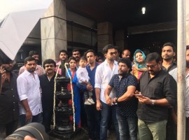 Prithviraj Sukumaran and Bhavana's Adam movie pooja.