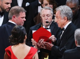 La La Land is mistakenly awarded the best picture Oscar, only to have it taken away from the cast and crew and handed to Moonlight in an unprecedented Oscars mix up.