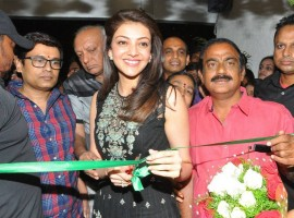 South Indian actress Kajal Aggarwal launches Bahar Cafe Restaurant.