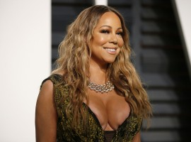 Hollywood singer Singer Mariah Carey at Oscars Vanity Fair Party.