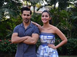 Bollywood actors Alia Bhatt and Varun Dhawan promote their upcoming film Badrinath Ki Dulhania.